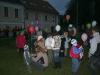 Příprava před vypuštěním balónků.